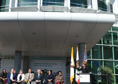 Congresswoman Pelosi attends Ribbon-Cutting of the new Zuckerberg San Francisco General Hospital