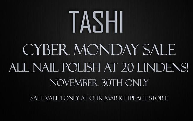 Cyber Monday Sale @ TASHI