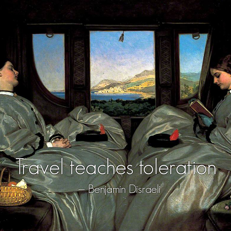 The Travelling Companions by Augustus Leopold Egg - 1862