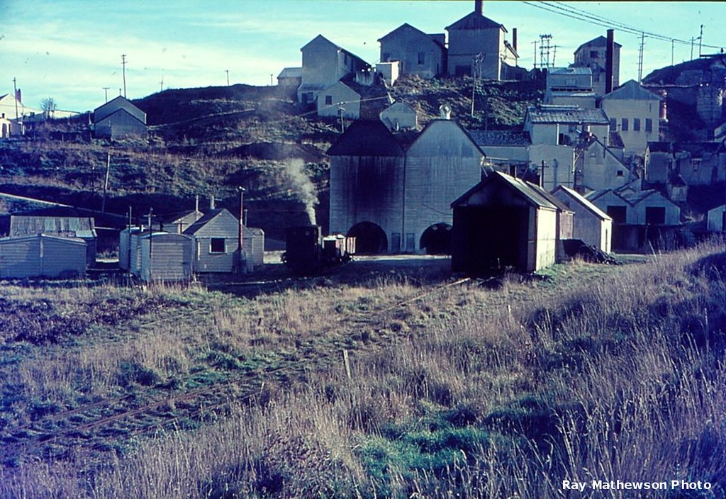 A view of the lime works and the loco shed etc.
