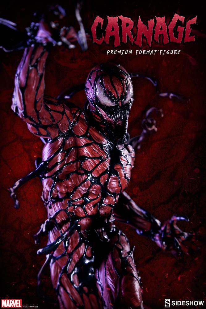 【完整官圖、販售資訊更新】Sideshow Collectibles【血蜘蛛】Carnage 1/4 比例全身雕像作品