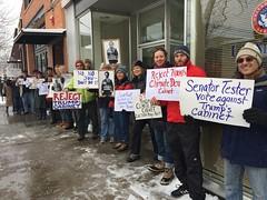 Demonstration at Senator Tester's office in Missoula, MT