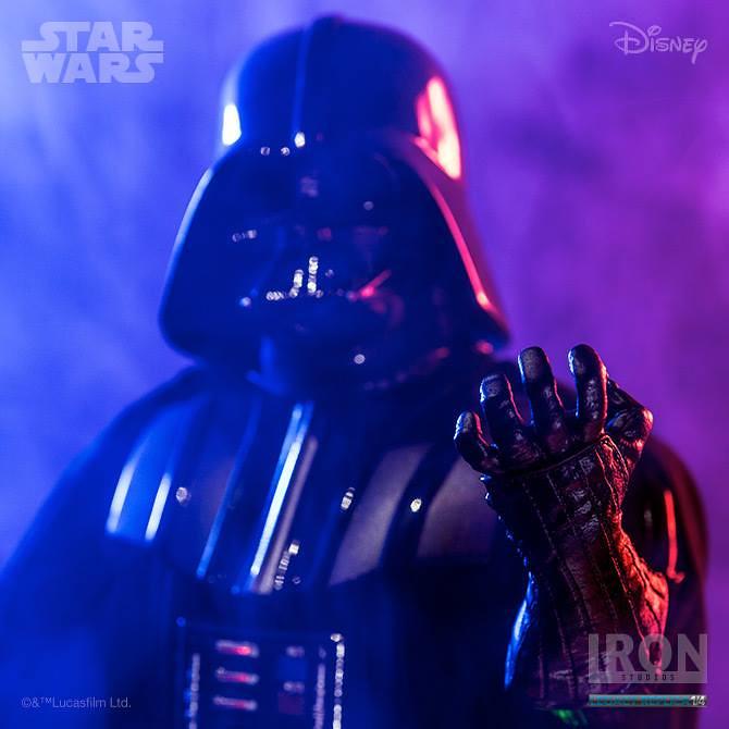 Iron Studios 星際大戰五部曲:帝國大反擊【黑武士達斯.維德】Darth Vader 1/4 比例全身雕像作品