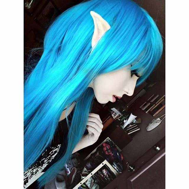 Emo girl   scene hair   emo hair   scene girl   scene hairstyles   scene queen   raver   blue and purple hair   blue scene hair   purple scene hair   Amantha Son   purple hair   blue hair