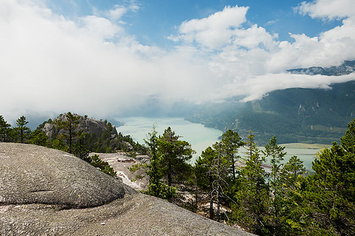 View from the Stawamus Chief, Stawamus Chief Provincial Park, Squamish, British Columbia