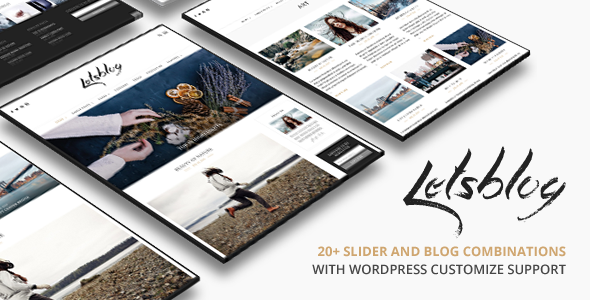 Lets Blog v1.6.1 - Responsive Blog WordPress Theme