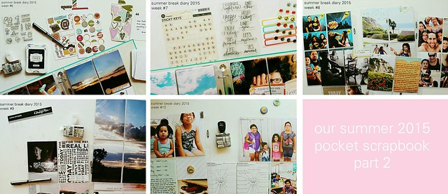 our summer 2015 pocket scrapbook (part 2)