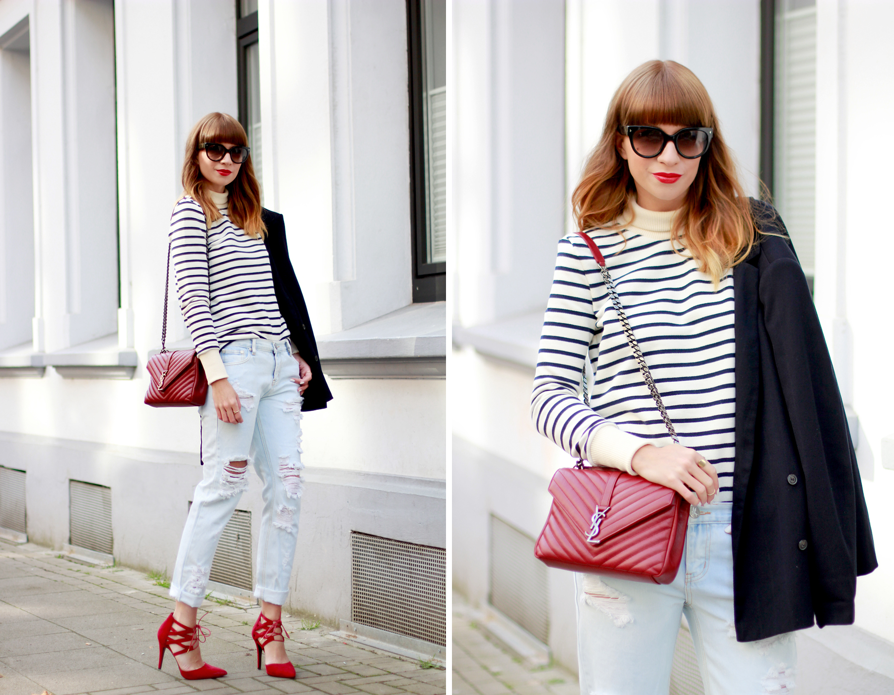 YSL Saint Laurent Paris outfit ootd styling fashion blogger stripe petit bateau one teaspoon aquazzura red minimal parisian cats & dogs blog ricarda schernus düsseldorf berlin 6