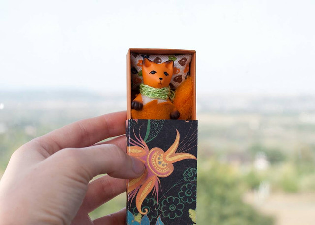 fox in a matchbox with lily