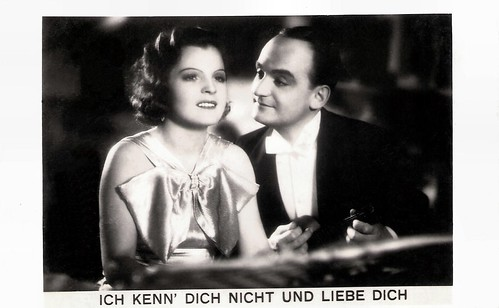 Magda Schneider and Willi Forst in Ich Kenn Dich Nicht Und Liebe Dich (1934)