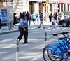 Wall Street, cop and citybikes