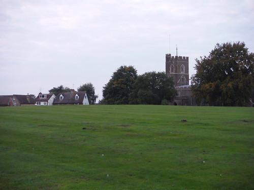 Harlington, Bury Orchard (village green) and St. Mary the Virgin church