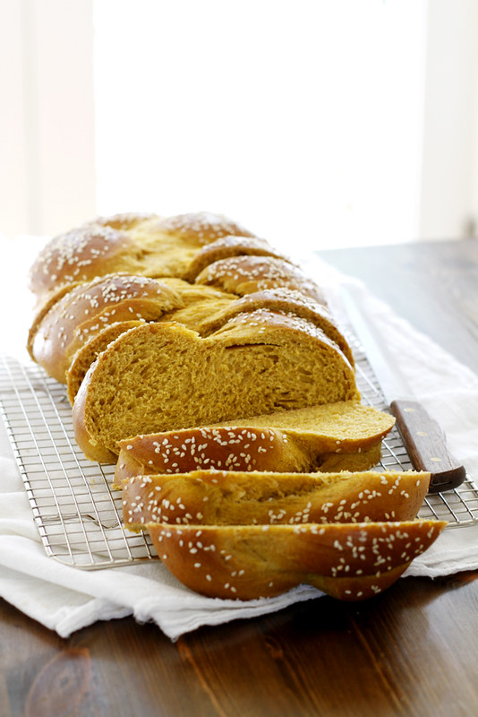 Pumpkin Challah | girlversusdough.com @girlversusdough #pumpkin #baking #bread #recipe