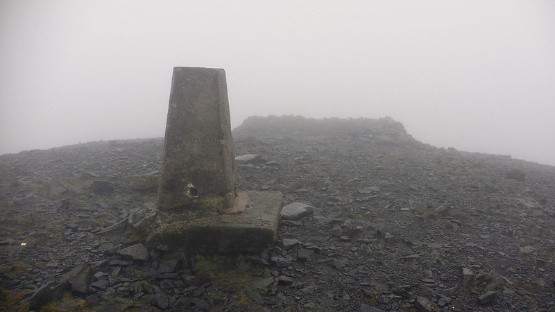 Skiddaw trig point. Not great conditions #sh