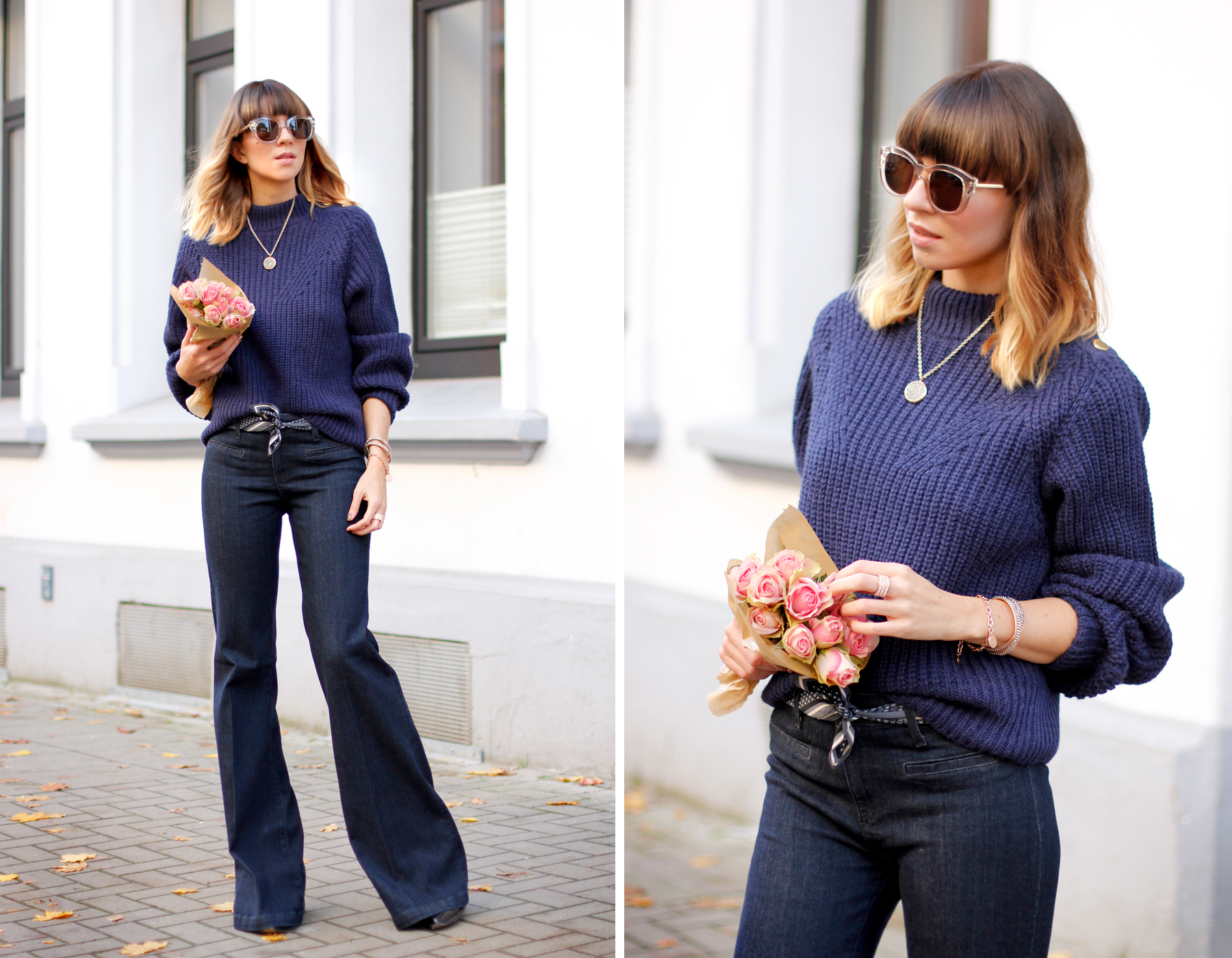edited knit AG jeans lespecs sunglasses pippa and jean accessories outfit ootd fashionblogger cats & dogs ricarda schernus blue outfit sailor french blog 2