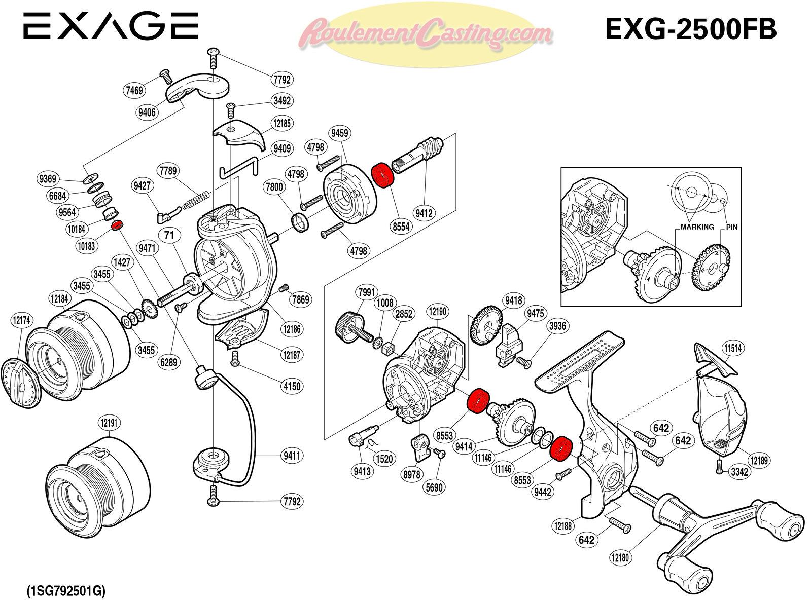 Schema-Shimano-EXAGE-2500FB