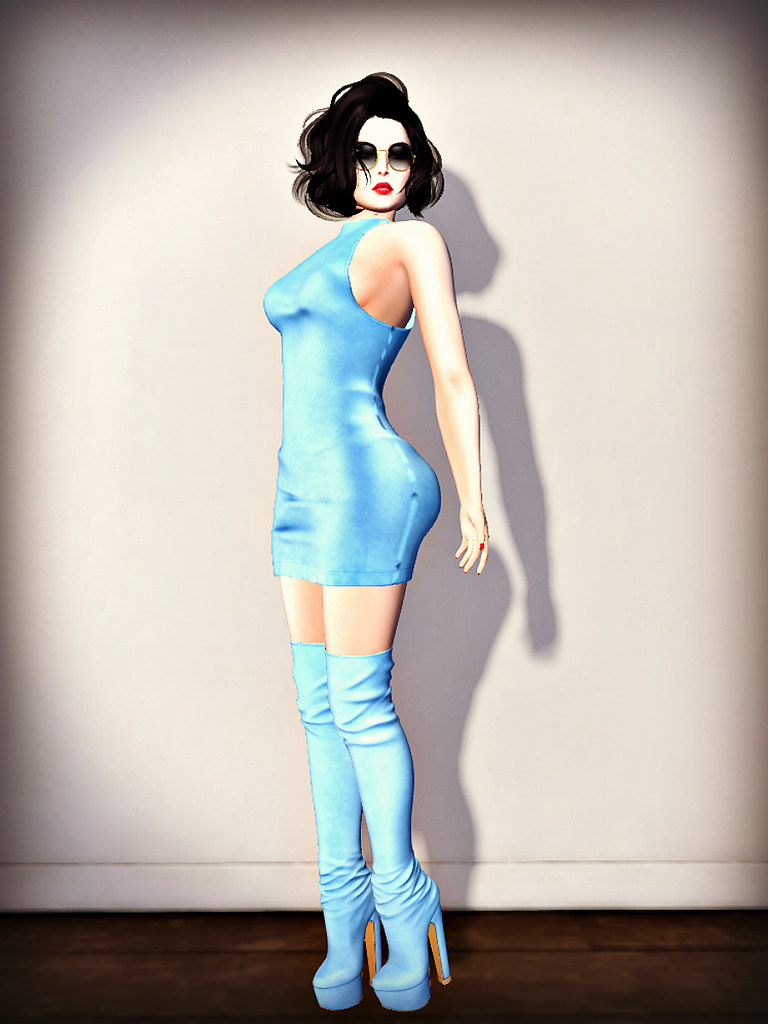 naadi - candydoll blue dress and boots