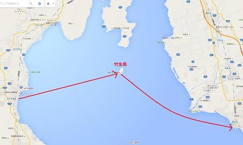 竹生島、map詳細