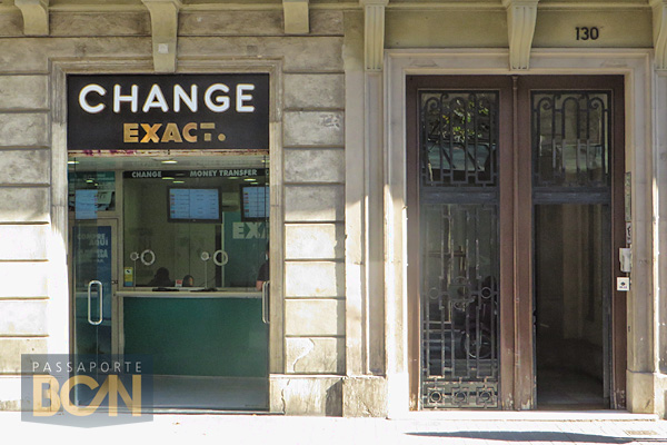 cambio de dinheiro em Barcelona