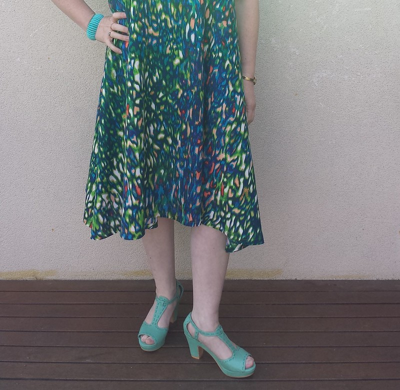 Papercut Patterns Sway dress in woven viscose from Darn Cheap Fabrics