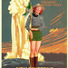 Pin Up Version1938-national-park-service-poster by J Lincoln Hallowell Jr