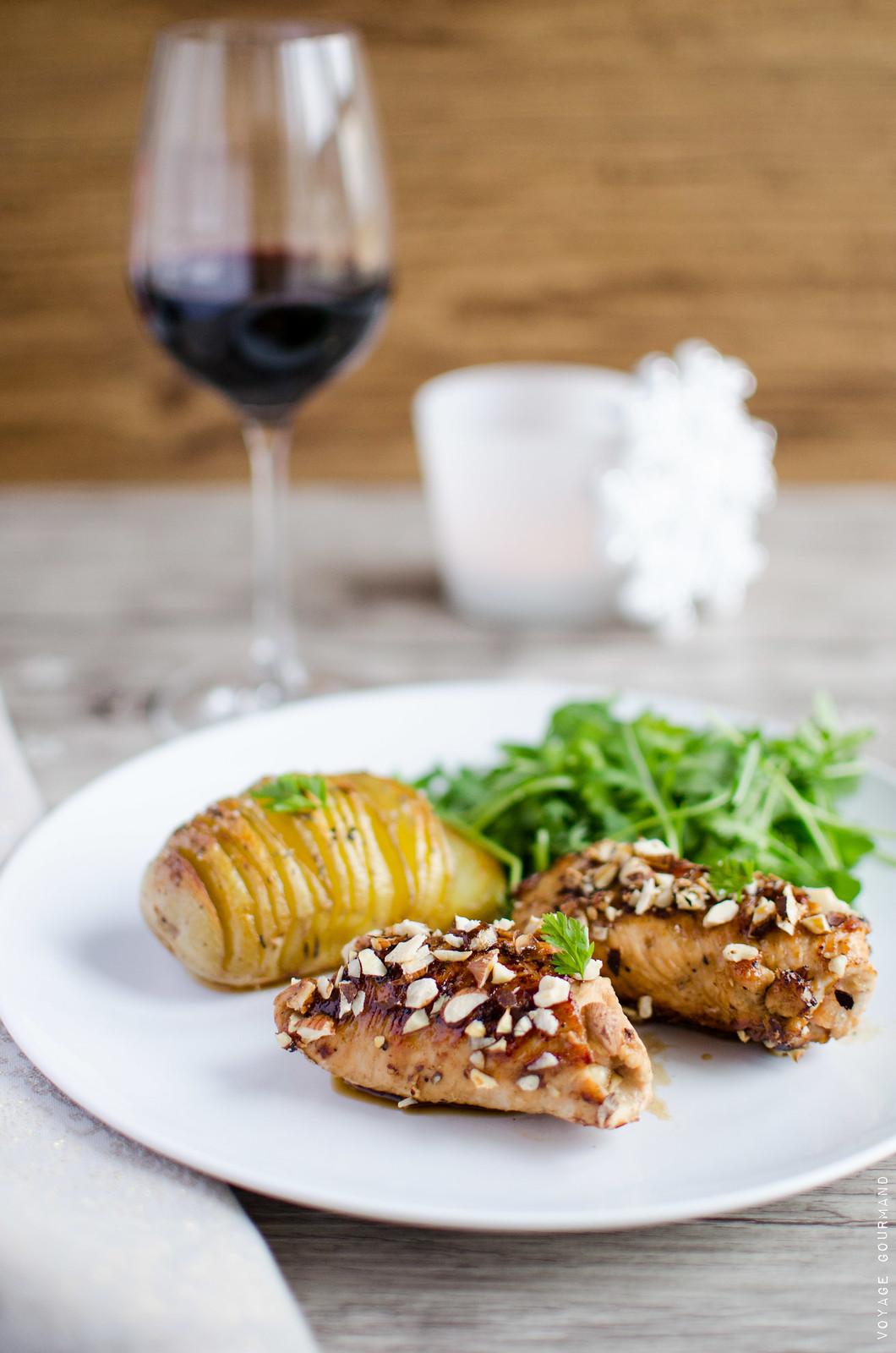 Escalopes roulées de dinde au bacon et parmesan
