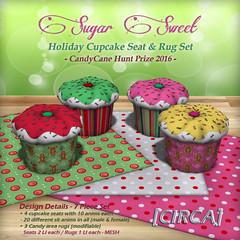 CandyCane Hunt Prize - [CIRCA] - Sugar Sweet - Cupcake & Rug Set -