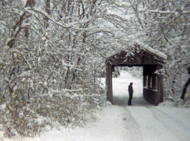 Covered Bridge and Snow