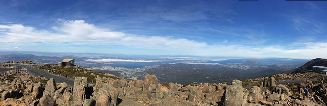 From the top of Mt Wellington.