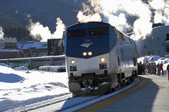 "First run of the ""new"" Ski Train"