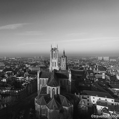 #three #towers #ghent #gent #visitgent #blackandwhite #blackandwhitephotography #historic #city #centre #belgium #belgium_unite #igbelgium #guardiancities #guardiantravelsnaps #lonelyplanet #travel #wanderlust #travelgram #landscape #city #aerialphotograp