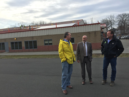 Mayor Madden Tours Installation of City Solar Energy System