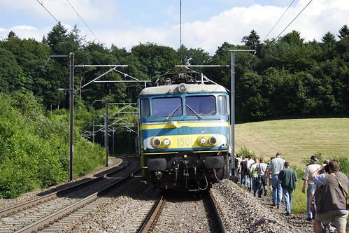 20080628 043 Vonêche. Enthusiasts Rejoin PFT TSP Adieu Aux Locomotive Série 15. 1501 E18502 15.10 Florenville - Namur