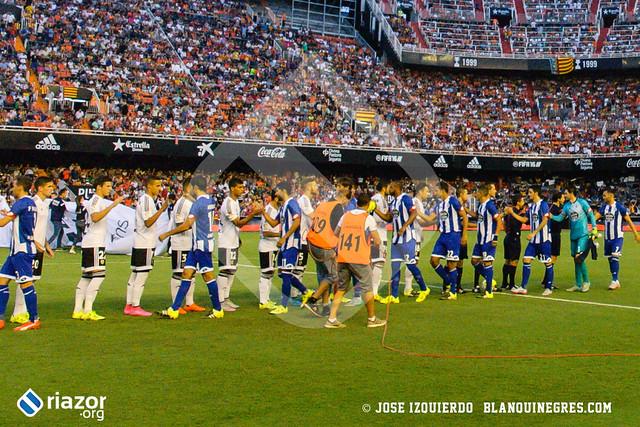 Temporada 15/16. Jornada 2ª.  Valencia C.F. 1 - R.C.Deportivo 1
