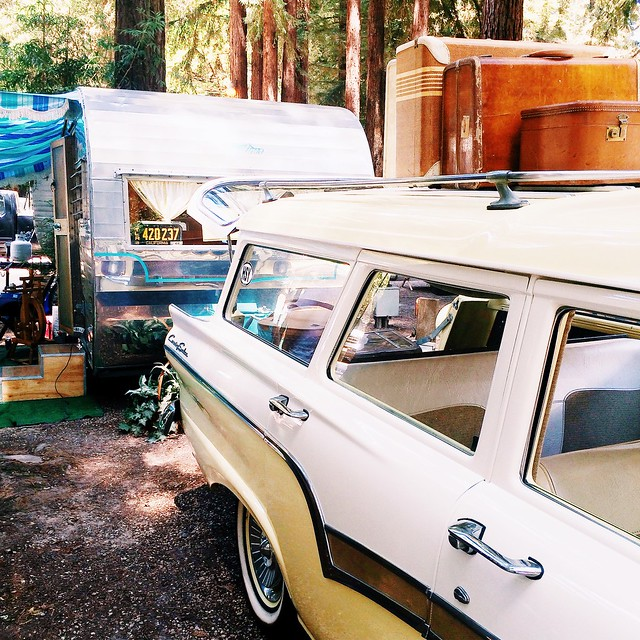Trailers In The Trees, Vintage Trailer Rally in Felton, CA. August 2015