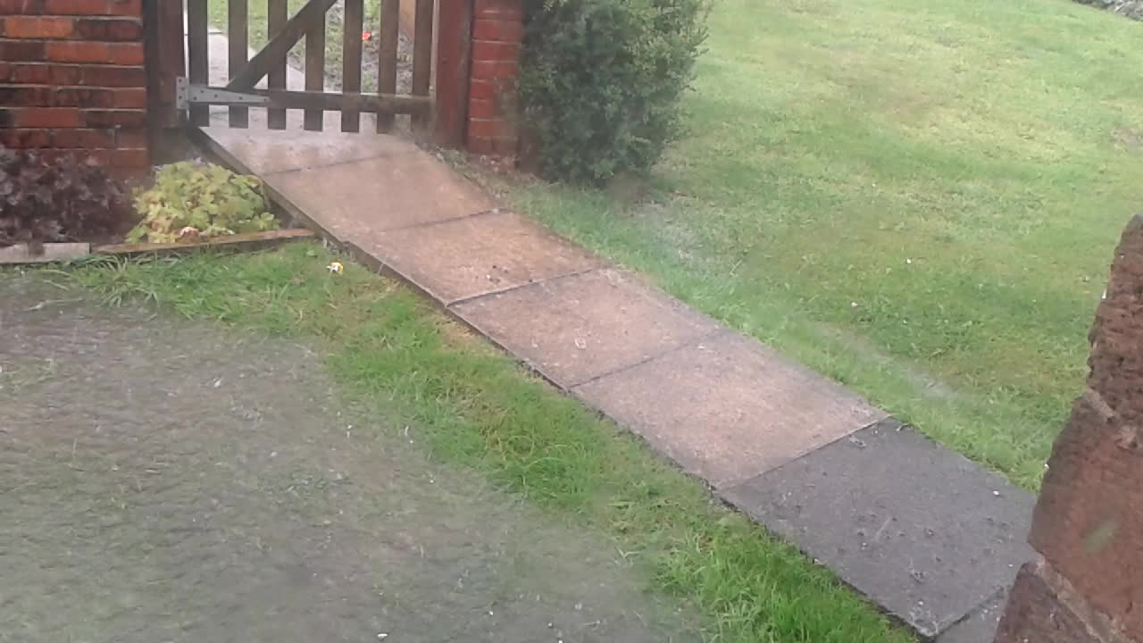 This is a quick vid of the water flowing into our front garden.