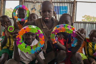 South Sudan refugee children play in child friendly centre in Gambella Ethiopia
