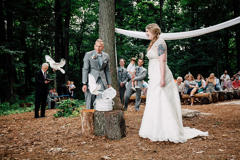Twin Peaks wedding on @offbeatbride