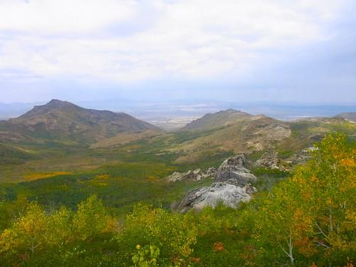 autumn landscape rocks