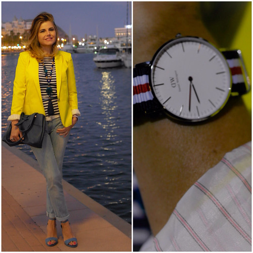 Outfit Navy: Daniel Wellington & Yellow