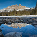 Castle Mountain Reflection, Banff, Alberta by Lisa Bettany {Mostly Lisa}