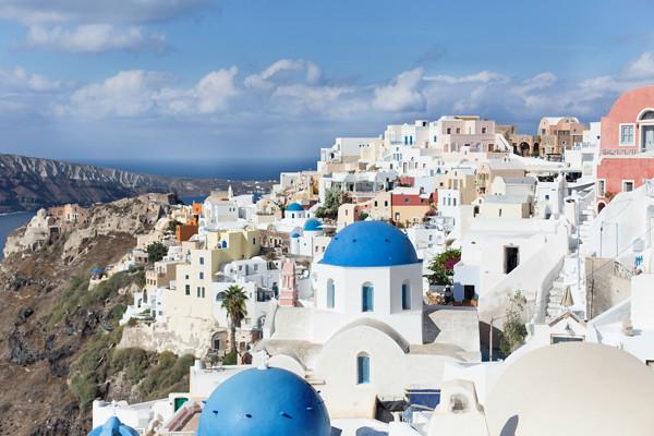 Rooftops of Oia Santorini