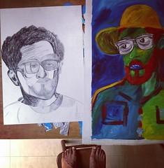 Encontros! Meetings!  #rubemart #selfie #selfportrait #art #painting #collage #colagem #saopaulo #sampa #sp