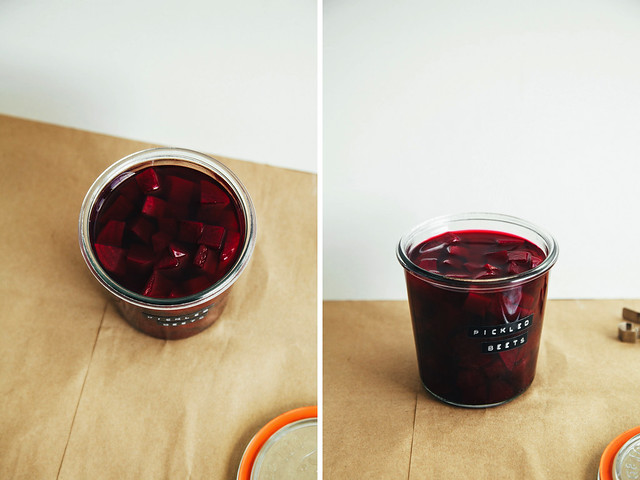 Quick balsamic pickled beets