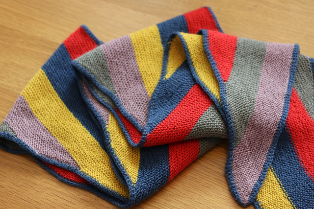 WestKnits Unicorn Parallelograms Scarf by Stephen West