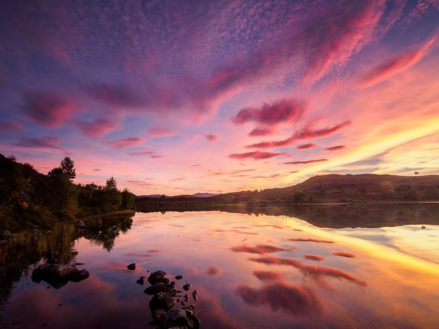 Loch Na Ba Ruaidhe Sunset