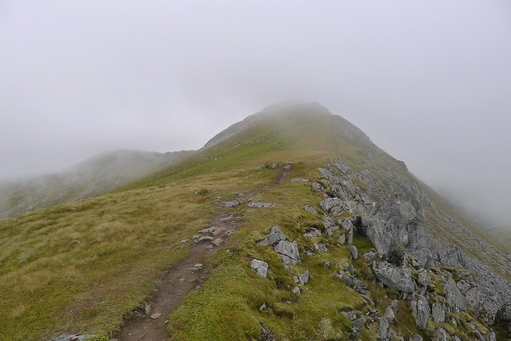 Approaching the summit of A' Chraileag