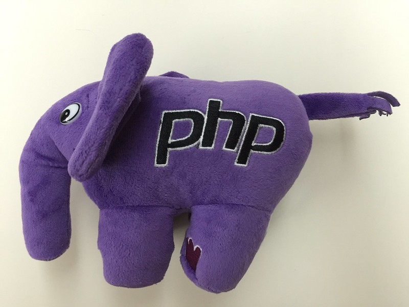 PHP ElePHPant (Purple) Plush Toy - Left