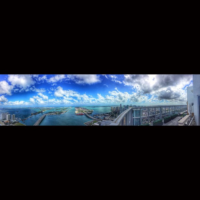 From the 63rd floor photo shooting for talented interior designers #miami #sky