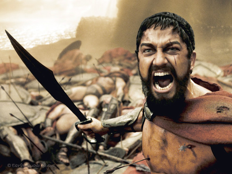 Fotograma de la película 300, inspirada en la Batalla de las Termópilas
